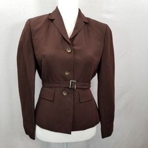 LOFT Ann Taylor Women's Brown Blazer W/Belt 4P